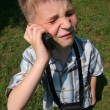 Child phoning — Stock Photo
