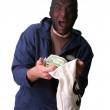 Bank robber — Stock Photo