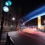Big traffic in London at the Big Ben — Stock Photo