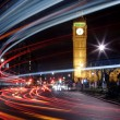 Big traffic in London at the Big Ben - Stock Photo