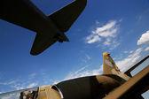 Aviões militares — Fotografia Stock