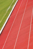 Detail of an athletic track — Stock Photo