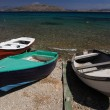 Royalty-Free Stock Photo: Three boats at the seaside in Greece