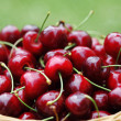 Cherry fruit in basket — Stock Photo