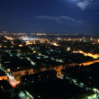 Cityscape at moonlight — Stock Photo