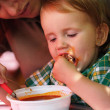 Royalty-Free Stock Photo: Child eating