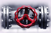 Red stop valve — Stock Photo
