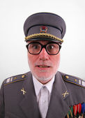 Uniformed senior soviet soldier — Stock Photo