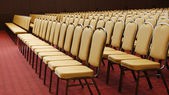 Empty chairs in conference hall — Stock Photo