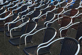 Chairs outdoor — Stock Photo