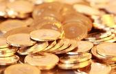 Groep van gouden munten — Stockfoto