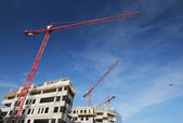 Crane and building — Stock Photo