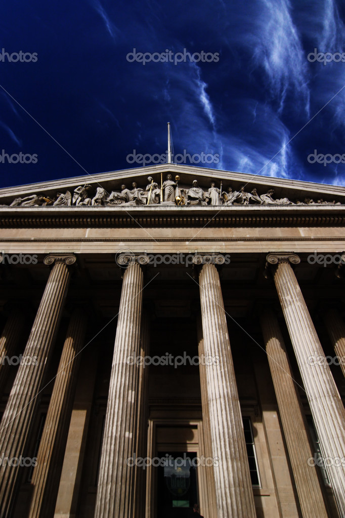  In front of the building of British Museum  Stock Photo #2380719