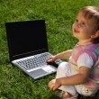 Royalty-Free Stock Photo: Child with laptop