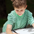 Young child drawing — Stock Photo