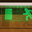 Symbol of emergency exit — Stock Photo