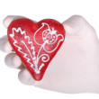 Gingerbread heart - Stock Photo