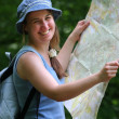 Young woman with map — Stock Photo #2395594