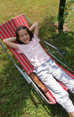 Young girl relax — Stock Photo