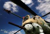 Helicóptero militar — Foto de Stock