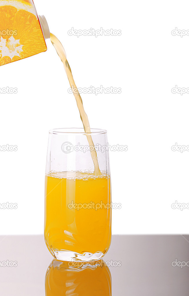 Fresh juice being poured into a glass  — Foto de Stock   #2496492