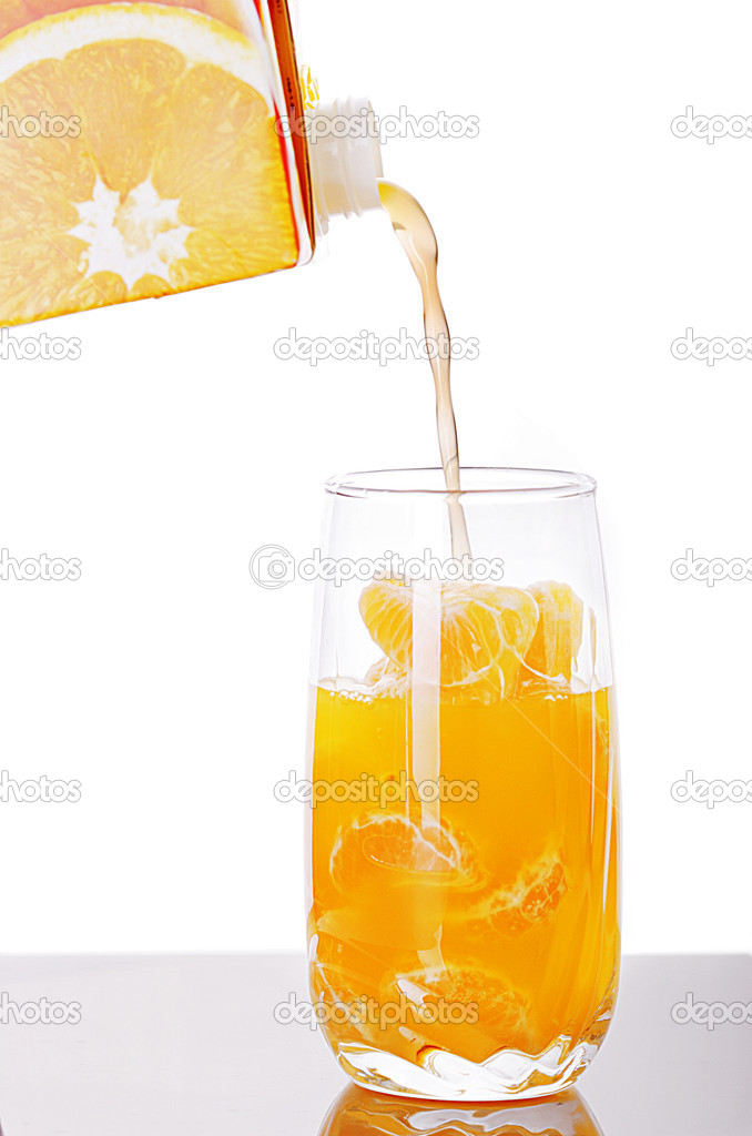 Fresh juice being poured into a glass  — Stock Photo #2496533