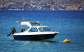 Small motorboat on the sea — Stock Photo
