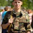 Stock Photo: Young soldier