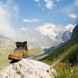 Stock Photo: Sturdy climber boots