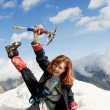 Red-haired mountaineer girl — Stock Photo #2339194