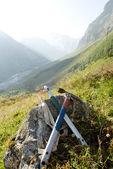 Symbols of mountaineering — Stock Photo