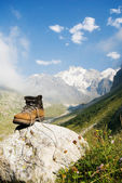 Sturdy climber boots — Stock Photo