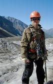 Happy mountaineer — Stock Photo