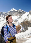 Young mountaineer — Stock Photo