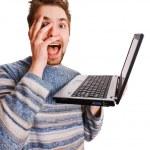 Laptop crazy — Stock Photo #2343318