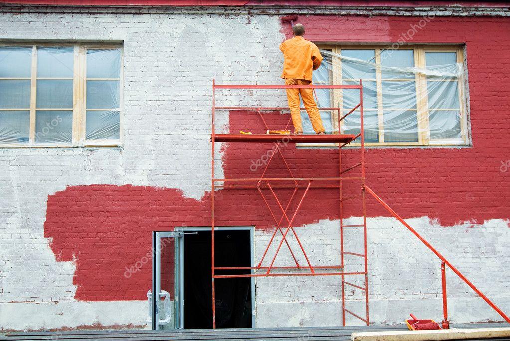 Как красиво покрасить кирпичный дом