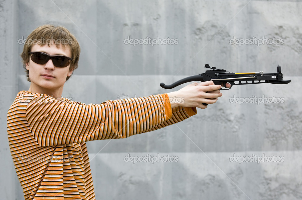 You can't escape from arbalet sharpshooter  Stock Photo #2342490