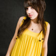 Yellow dress — Stock Photo #2351090