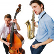Two cool musicians — Stock Photo