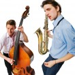 Two cool musicians — Stock Photo #2352367