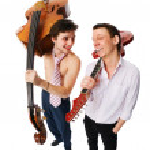 Musicians on white — Stock Photo
