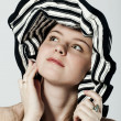 Striped hat — Stock Photo