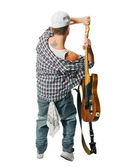 Cool musician with guitar — Stock Photo