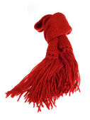Red scarf — Stock Photo