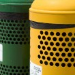 Stock Photo: Waste separation bins