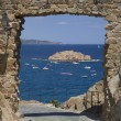 A gate on the Mediterranean Sea - Stock Photo