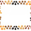 Dried fruits frame — Stock Photo