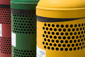 Waste separation bins — Stock Photo