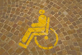 Parking for handicapped — Stock Photo