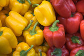 Red and yellow pepper vegetables — Stock Photo